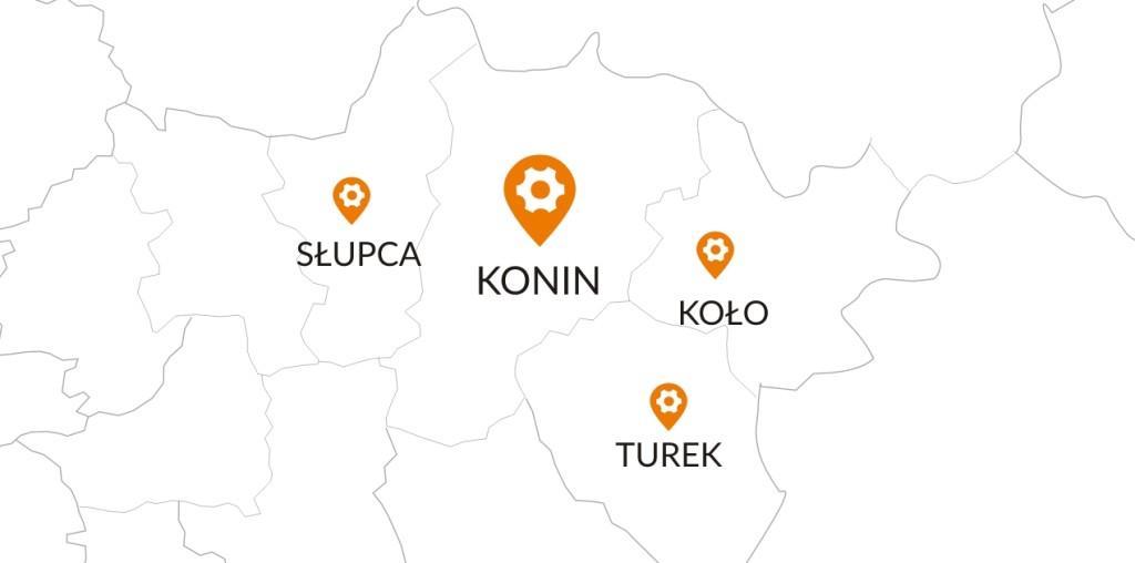 mapka CK KONIN